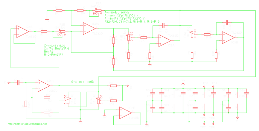 Traffic Baton Circuit With Led Flasher in addition Sound Activated Switch Circuit furthermore Portable Audio  lifier Schematic Diagram moreover Tda X W Quad Audio  lifier together with Turbo Bass Circuit Diagram. on audio mixer circuit diagram