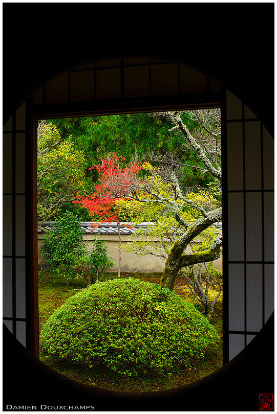 Round window of Enlightenment, Unryu-in temple