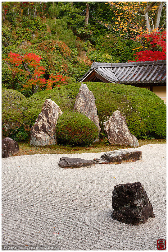 Rock garden in autumn, Komyo-ji temple