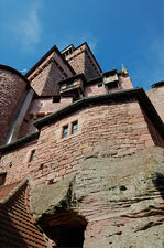 Intricate towers of the Haut Koenigsbourg castle