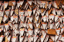 Fox-shaped ema tablets (Fushimi Inari shrine 伏見稲荷大社)