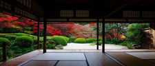 Meditation hall in autumn (Shisendo 詩仙堂)
