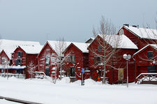 Old harbour houses, Oulu, Finland