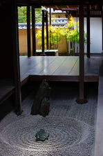 Small rock garden between passageways in Ryogen-in