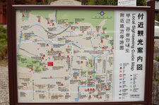 Local sightseeing map in Kyoto City