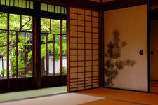 Room with view on zen garden, Shinyo-do temple