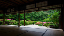 Meditation hall in summer, Shisen-do temple (2/7)