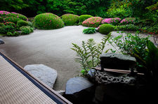 Water basin and zen garden, Shisen-do temple