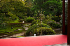 Zen garden in summer, Unryu-in temple
