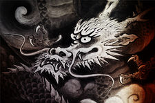 Dragon painting in Unryu-in temple