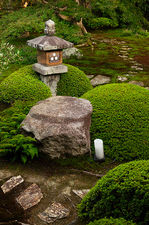 Unryu-in temple's stone lantern and gardens