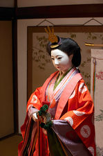 Traditional life-sized doll in Hokyo-ji temple