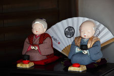 Small statues of old couple, Unryu-in temple