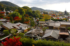 A view of Higashiyama from the Daiun-in temple tower