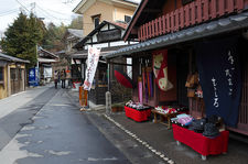 Souvenir shop on the street leading to Sanzen-in temple