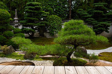 Rock garden created by famous designer Shigemori Mirei, Reiun-in temple, Kyoto, Japan