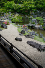 The rock garden of Sanpo-in temple, Kyoto