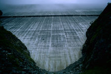 The Barrage de la Grande Dixence, the tallest concrete dam in the world with a hight of 285m